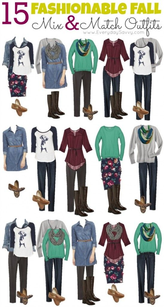 Mix and Match Fall Outfits from Target - Look fashionable on a budget!