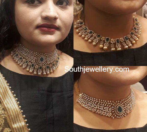 3 In 1 Multi Purpose Diamond Choker Diamond Necklace Designs Diamond Choker Diamond Necklace Indian