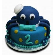 Tort Bebe Caracatita Blue