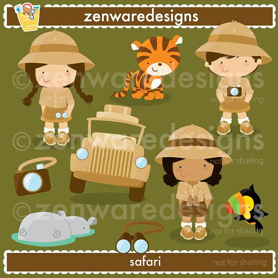 Safari Clilpart by ZenwareDesigns on Etsy