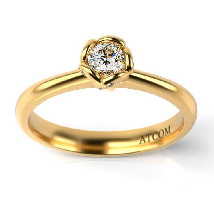 Inel de logodna cu diamante Vladislav din aur galben