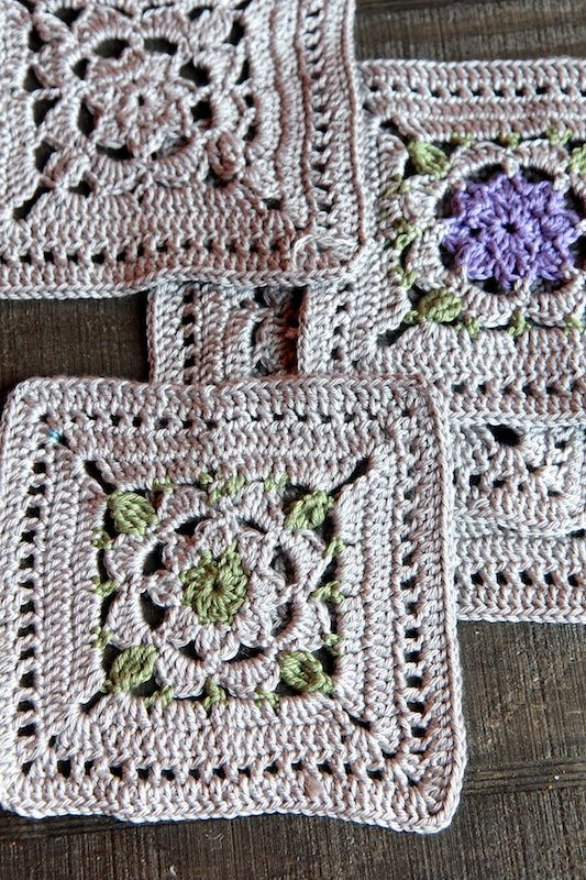 1000+ images about Crochet ~ Squares on Pinterest Granny Squares ...