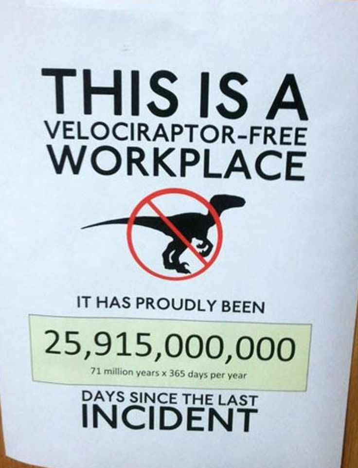 Raptor-free workplace #HR #humor                                                                                                                                                                                 More