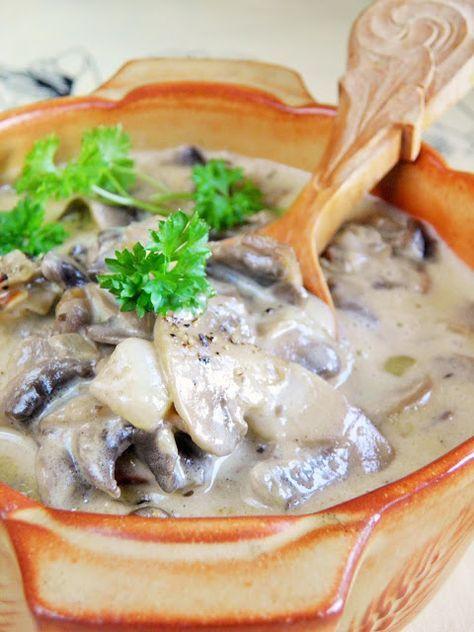 Sio-smutki: Kremowy sos pieczarkowy