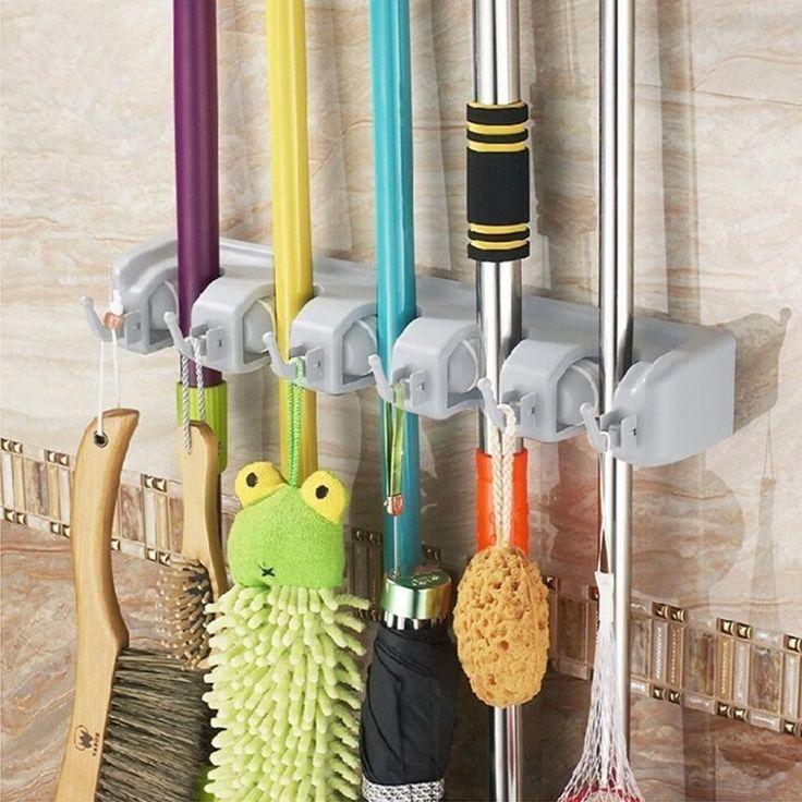 Broom and Mop Holder  - HouseBeautiful.com