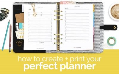 Make and Print Your Own Custom Planner