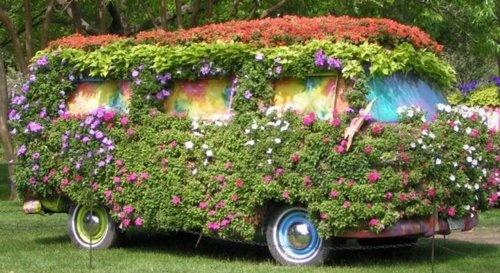Old van container garden.