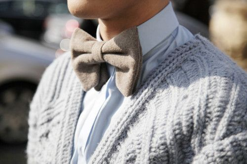 taupe bow tie