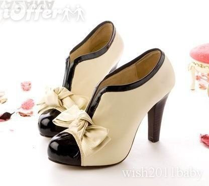 Check out our website for nice shoes and find good sexy lady beige bow pump  platform women high heel shoes hk post for your party. globaljointtrust  provides ...