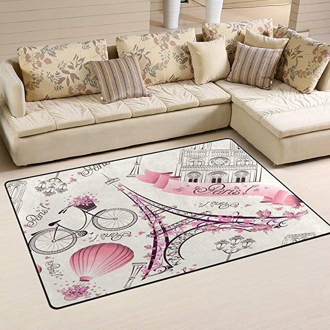 Amazon Com Sunlome Pink Paris Eiffel Tower Landmark Area Rug Rugs Non Slip Indoor Outdoor Floor Mat Doormats Fo Full Bedding Sets Bedding Set Sectional Couch