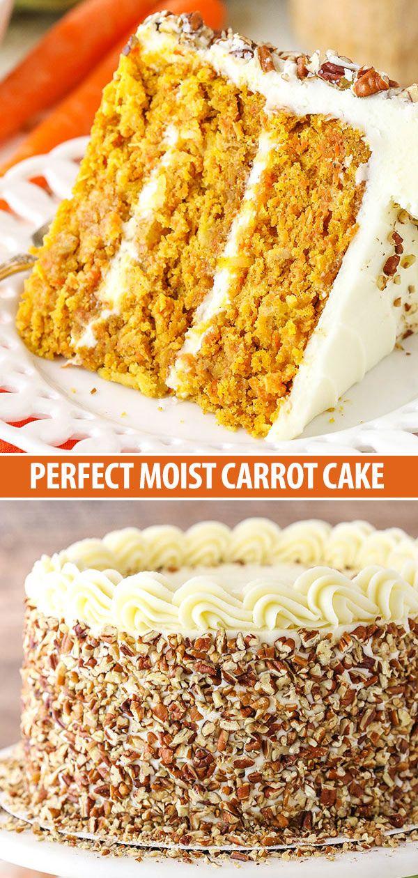 Dieses Karottenkuchen-Rezept ist feucht, zart und einfach zuzubereiten! Es ist im Ernst das Beste …   – Cakes