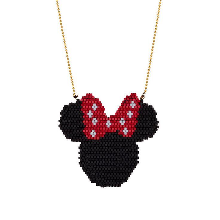 Cuentas de collar de ratón de Minnie Minnie por SinezarHandmade