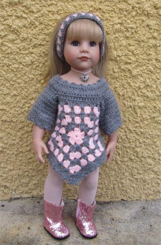 """112- FICHE PATRON CROCHET Tenue """"Suzanne"""" pour poupée Hannah de Götz : Jeux, jouets par atelier-crochet"""