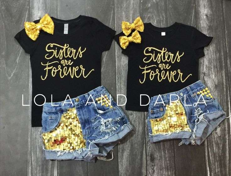 I want one for Demi (2t)  and one for Frannie (6 months)   Sisters are forever gold glitter sparkle toddler shirt by LolaandDarla on Etsy https://www.etsy.com/listing/235174225/sisters-are-forever-gold-glitter-sparkle