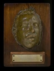 Pancho Villa's death mask -- look close, you can see the bullet hole in his forehead. History Collection NMHM, DCA, 10902/45 Gift of Mayor Sam Pick for City of Santa Fe. Photo by Blair Clark, DCA.