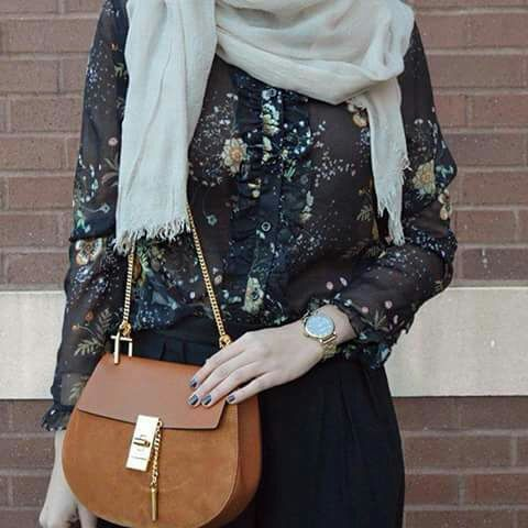girl, hijab, and outfit image
