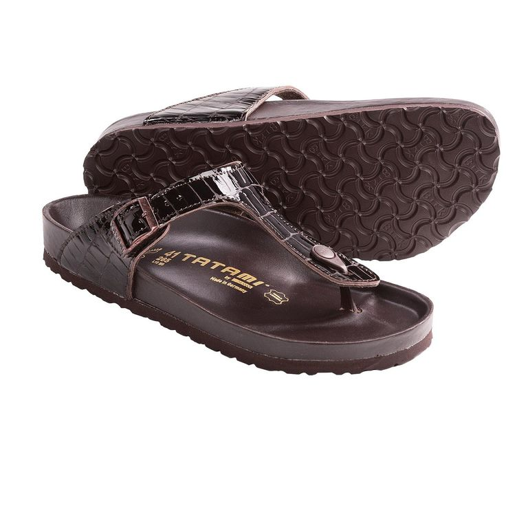 Tatami Birkenstock Gizeh Braun Croco Leather Exquisit Woman Thong Sandals Brown | eBay