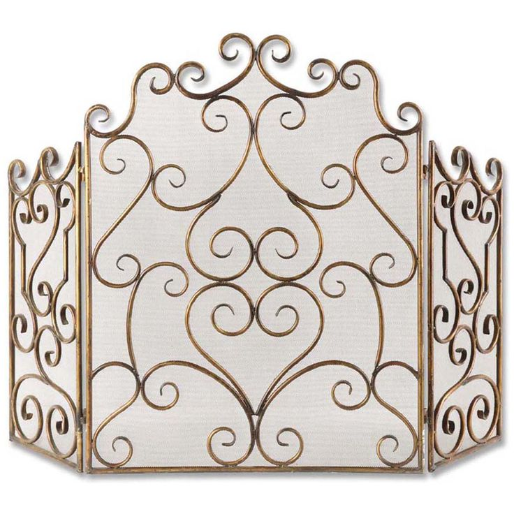 Uttermost Kora Metal Fireplace Screen 20467