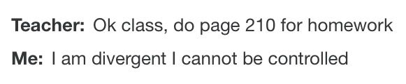 I'm using this as an excuse now ~Divergent~ ~Insurgent~ ~Allegiant~