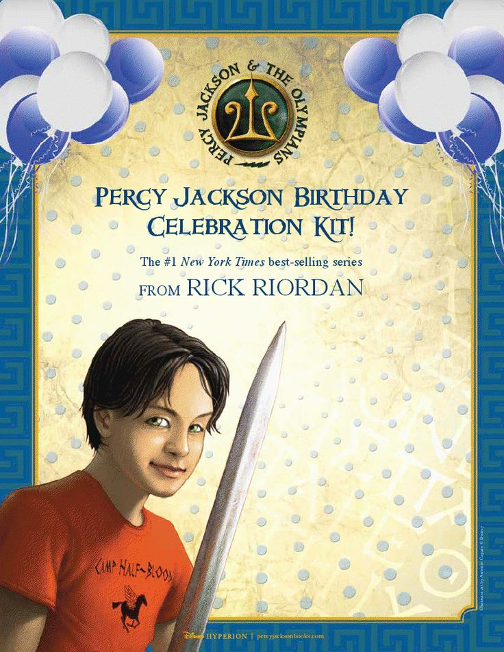 Suggestions from the author/publisher on how to have a percy jackson birthday party (games such as medusa freeze tag, word searches and such) Includes a list of major and minor gods.