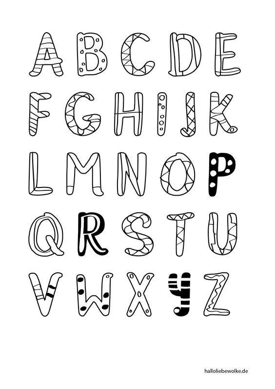 printable  malvorlage buchstaben lernen  hallo liebe