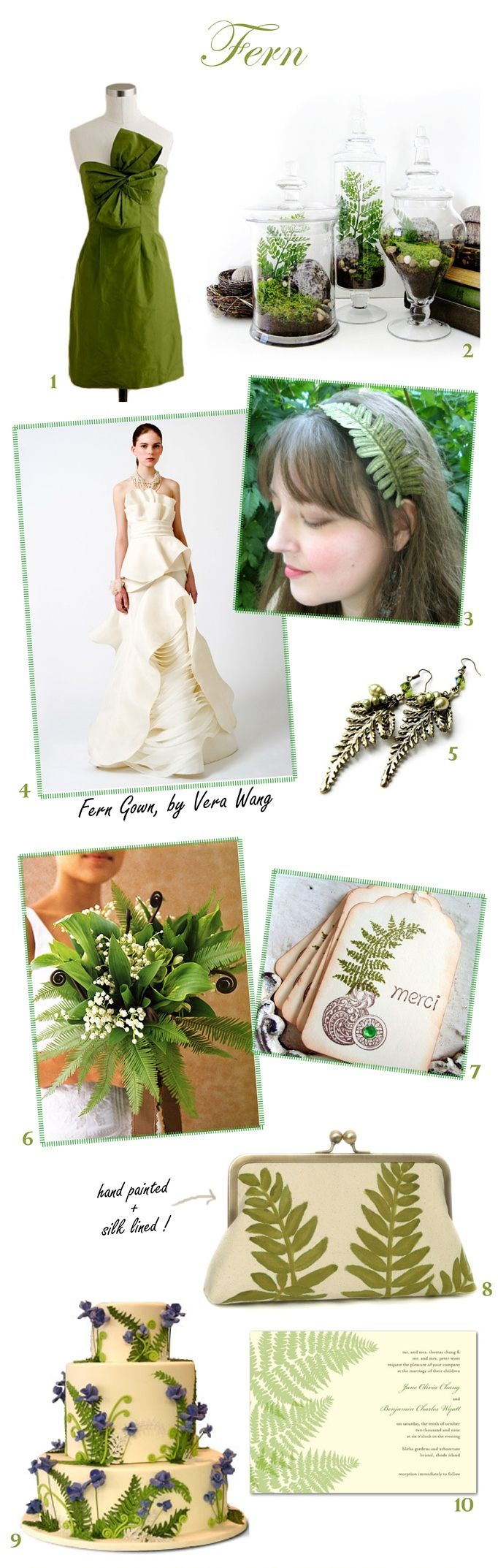 #Fern #Green #Wedding #Inspiration from sweetvioletbride.com love those fern jars... Maybe add pansies and violas