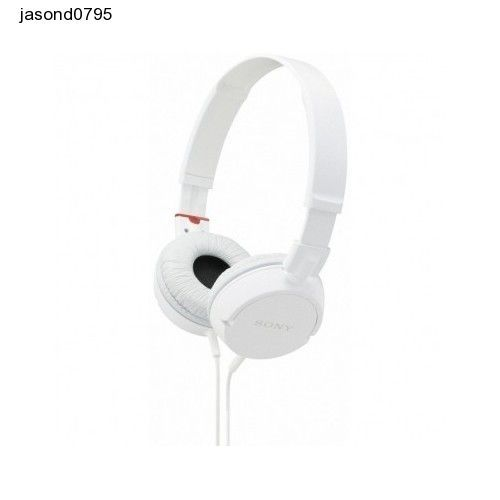 Sony Headphones White MDR-ZX310 Music Beats Adjustable Earphones iphone Ear Plug