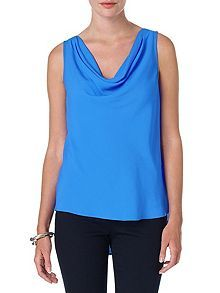 Dolores cowl sleeveless blouse