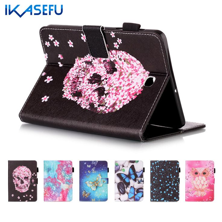 IKASEFU Tablet PU Leather Case for Samsung tab s2 T710 T715 Cover for Samsung Galaxy Tab S2 8.0 inch Coque Fundas TPU back Filp