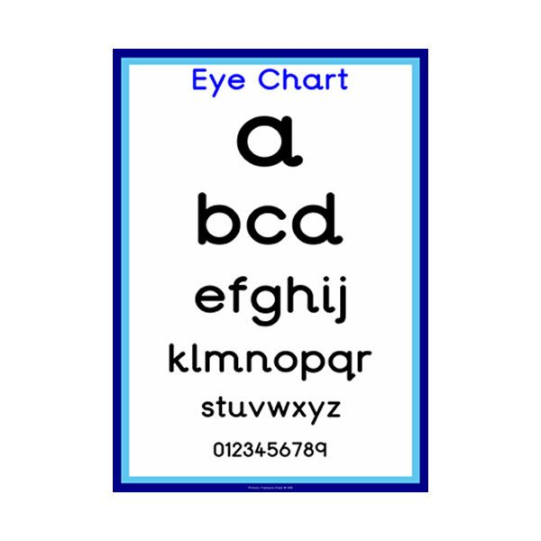 Doctors' Surgery Role Play Eye Chart
