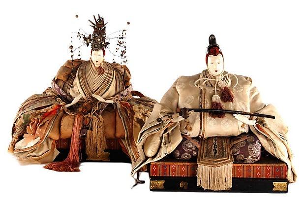 Japanese Hina Dolls, Pair on One Kings Lane ..... beautiful!