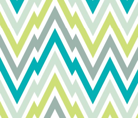 Zigging - Aqua fabric by honey