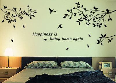 DIY Removable Mural Decal Wall Sticker Trees Branches Birds Art Vinyl Decor-in Wall Stickers from Home & Garden on Aliexpress.com $7.90