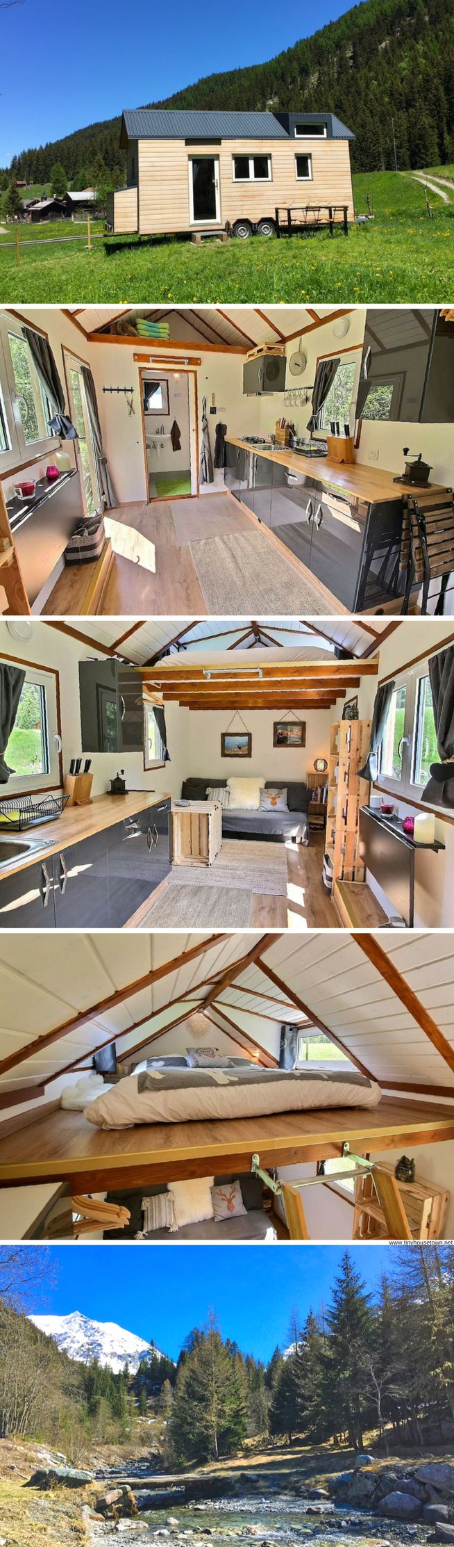 A beautiful tiny house on wheels available for rent in Prolong, Switzerland PINTEREST Arilethbridge