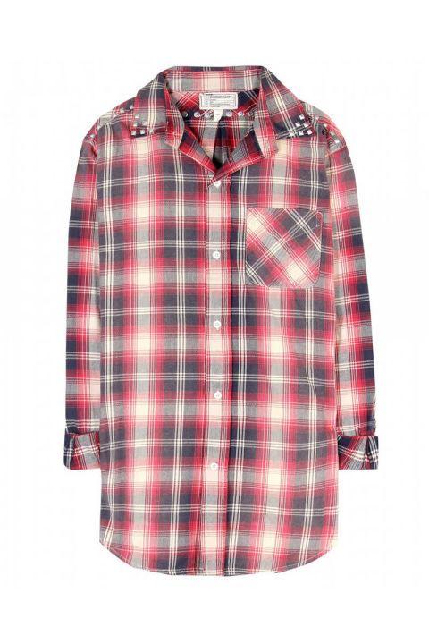 Current/Elliott The Prep School Button-Down Shirt With Studs, $402;  mytheresa