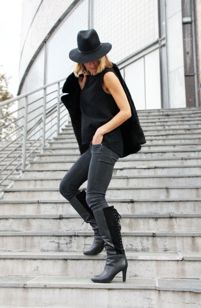Elisa Røtterud in #tagyourshoes #Piahaugseth <3 #Black #boots #Fashion #blogger #Fahionista