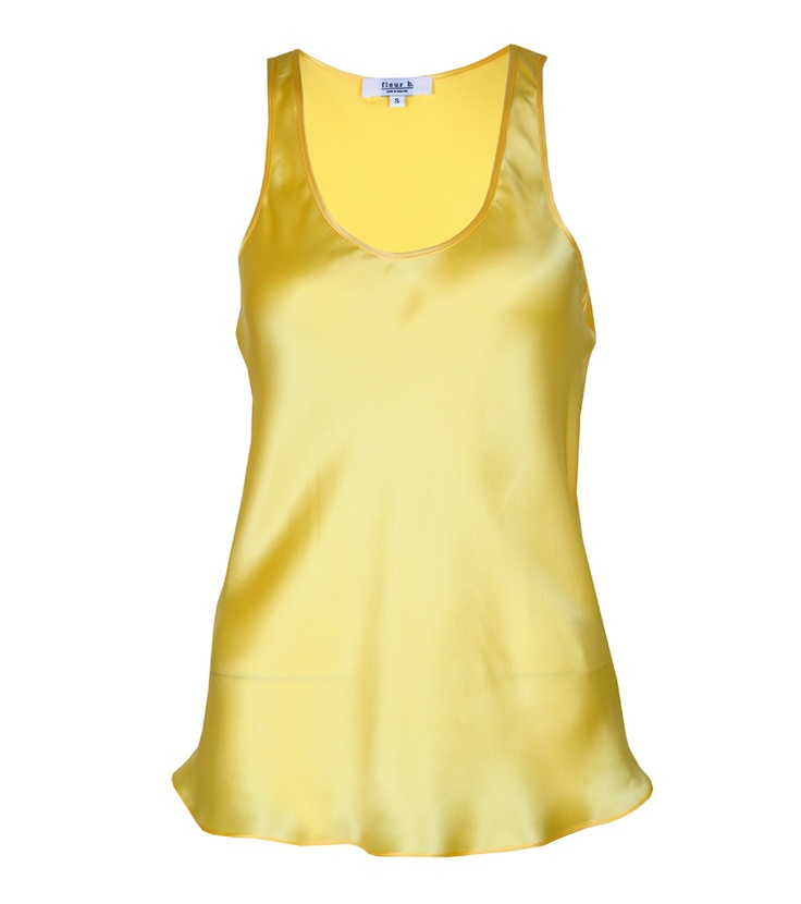 fleur b. The Silk Vest Yellow. Available online at www.fleurb.co.uk
