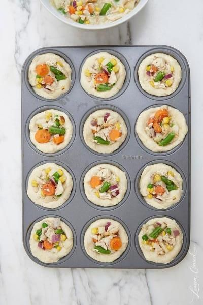 Mini chicken pot pies!