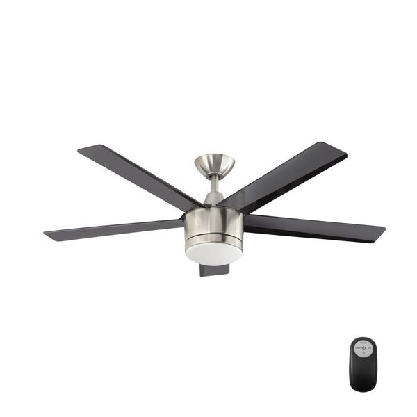 Merwry 52 In Led Indoor Brushed Nickel Ceiling Fan And Manual Manual Can Be Downloaded Free Co Brushed Nickel Ceiling Fan Ceiling Fan With Light Ceiling Fan