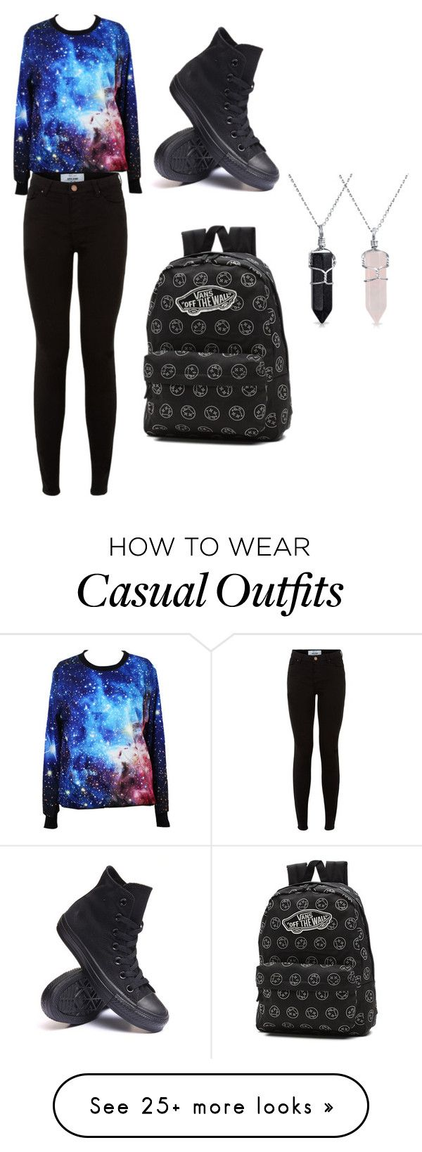 """Casual"" by daphne-morales on Polyvore featuring Converse, Vans and Bling Jewelry"