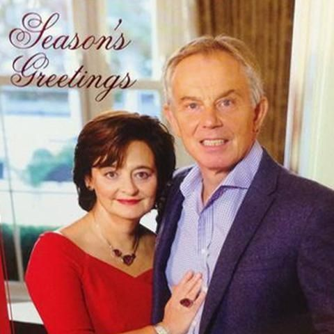 Tony Blair ex-British Prime Minister alongside his wife Cherie.
