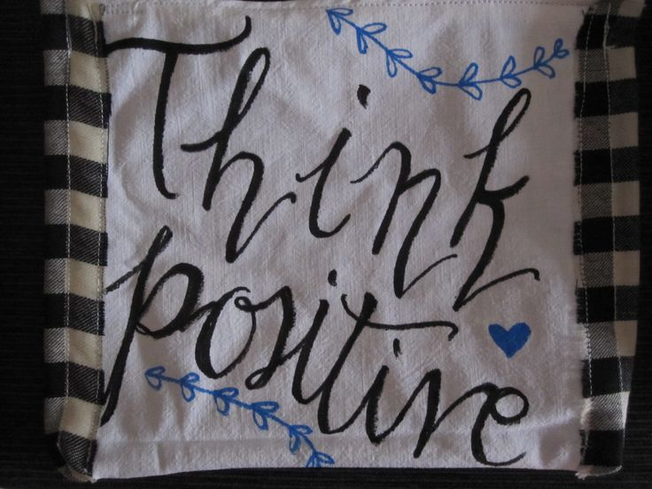 Think positive pochette!