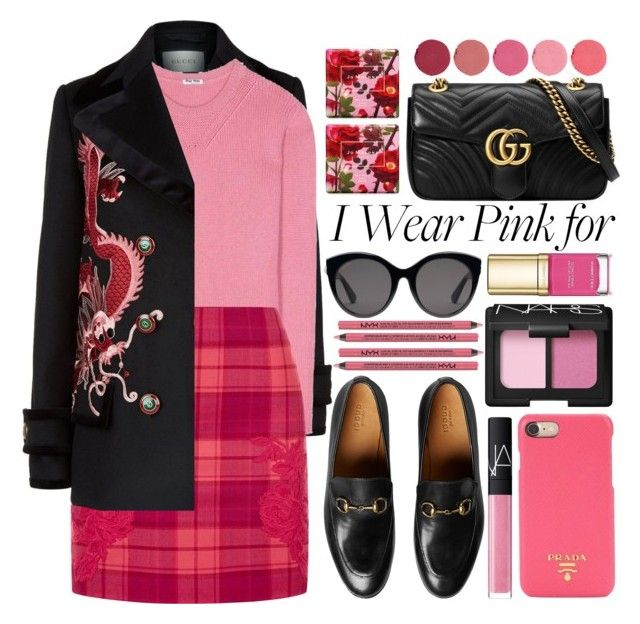 """pink..."" by a-a-nica ❤ liked on Polyvore featuring Gucci, Miu Miu, La Perla, NARS Cosmetics, Prada, Dolce&Gabbana, Charlotte Russe, Jo Malone and Kjaer Weis"