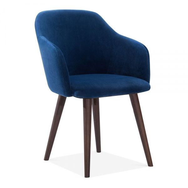 Blue Velvet Primrose Dining Armchair Modern Dining Furniture