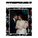 Modern and Glamorous Wedding Save the Date Photo Postcard #weddinginspiration #wedding #weddinginvitions #weddingideas #bride