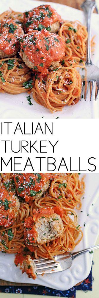 Italian Turkey Meatballs #meatballs #groundturkey #comfortfood