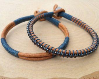 Mens Leather Bracelet Mens Jewelry Guys Bracelet by urbanlanding