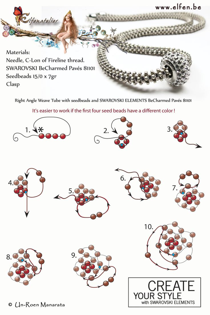 Elfenatelier - (Love the name)... if you can follow the diagram, the necklace is pretty, too.