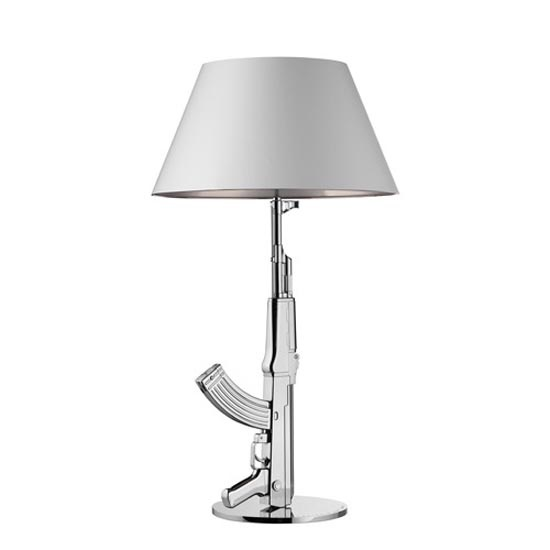 58 best guns images on pinterest for Philippe starck ak table lamp