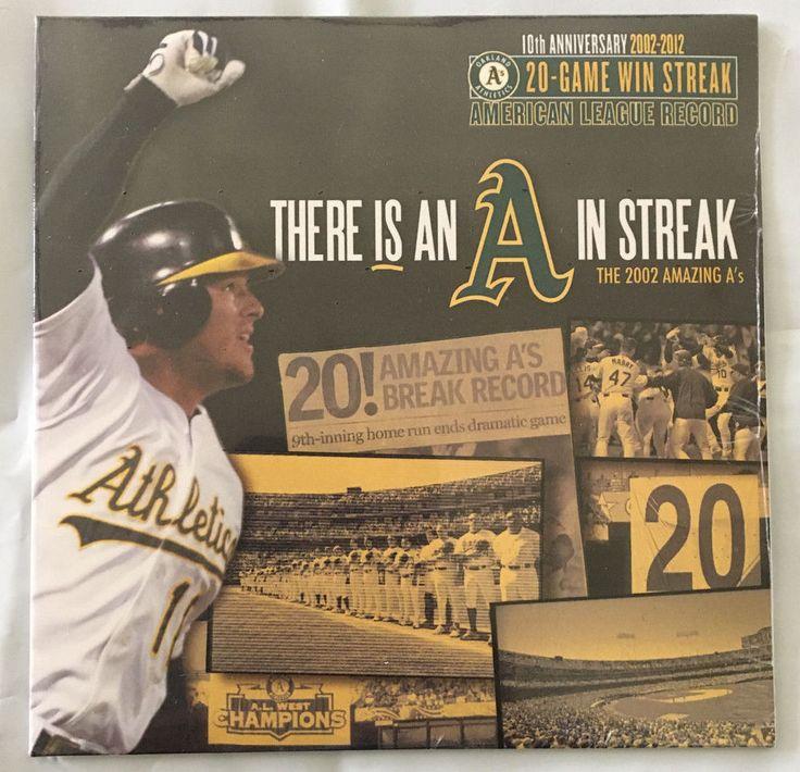 Oakland Athletics A's 10th Anniversary 2002-2012 20 Game Win Streak DVD #Athletics #OaklandAthletics